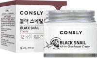 """Consly """"Black Snail All-In-One Repair Cream"""" Крем для лица многофункциональный восстанавливающий с муцином черной улитки, 70 мл."""