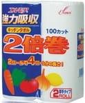 Kami Shodji Кухонные бумажные полотенца, 2 рулона по 100 отрезков.