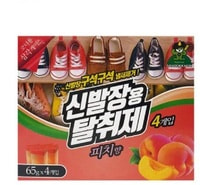 Sandokkaebi Средство против запаха, для полки обувного шкафа, аромат персика, 65 гр. х 4 шт.