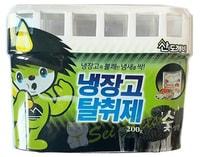 """Sandokkaebi """"Odor Fri"""" Ароматизатор-освежитель для холодильника, для холодильников небольшого объёма, древесный уголь, 200 гр."""