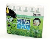 """Sandokkaebi """"Odor Fri"""" Ароматизатор-освежитель для холодильника, для холодильников небольшого объёма, зеленый чай, 200 гр."""