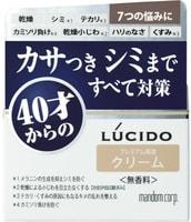 """Mandom """"Lucido Q10 Ageing Care Cream"""" Крем для комплексной профилактики проблем кожи лица, для мужчин после 40 лет, без запаха, красителей и консервантов, 50 гр."""