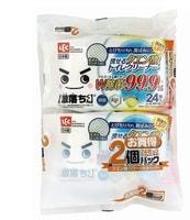 LEC Влажные салфетки для обработки унитаза, водорастворимые, спиртосодержащие, с антибактериальным эффектом, аромат грейпфрута, 250 х 160 мм, 24 шт. х 2 уп.