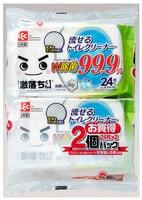 LEC Влажные салфетки для обработки унитаза, водорастворимые, спиртосодержащие, с антибактериальным эффектом, аромат мыла, 250 х 160 мм, 24 шт. х 2 уп.