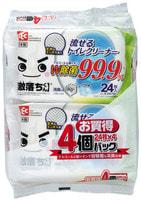 LEC Влажные салфетки для обработки унитаза, водорастворимые, спиртосодержащие, с антибактериальным эффектом, аромат мыла, 250 х 160 мм, 24 шт. х 4 уп.