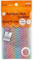 "SC ""Rainbow Mesh Scrubber"" Мочалка-сетка для мытья посуды и кухонных поверхностей, жёсткая, 30 х 30 см."