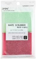"SC ""Mate Scrubber"" Набор губок для мытья посуды, кухонной утвари и чистки овощей, 13 х 9 х 1,5 см, 2 шт."