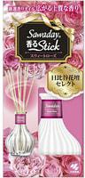 """Kobayashi """"Sawaday Stick Parfum Sweet Rose"""" Натуральный аромадиффузор для дома, с ароматом цветочного букета, стеклянный флакон, 70 мл, 8 палочек."""