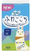 "Unicharm ""Sofy Fuwagokochi"" Ежедневные гигиенические прокладки, без аромата, 14 см, пачка, 38 шт."