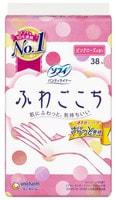 """Unicharm """"Sofy Fuwagokochi"""" Ежедневные гигиенические прокладки, с ароматом розы, 14 см, пачка, 38 шт."""