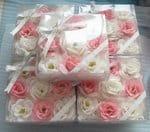 "KUMO Мыло лепестковое туалетное цветочное ""KUMO - Роза"", 9 шт., квадратная коробка."