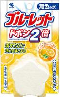 """Kobayashi """"Bluelet Dobon Double Grapefruit"""" Двойная очищающая и дезодорирующая таблетка для бачка унитаза с ароматом грейпфрута, 120 гр."""