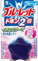 Kobayashi Двойная очищающая и дезодорирующая таблетка для бачка унитаза с эффектом окрашивания воды, аромат лаванды, 120 гр.