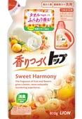 LION Гель для стирки «Сладкая Гармония» с ароматом цветов и апельсина, 810 гр. Сменный блок.