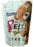 """Pigeon (Корея) Жидкое средство для стирки шерстяных и деликатных тканей """"Вул Тач"""". Сменный блок, 1300 мл."""