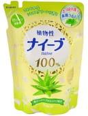 KRACIE Мыло жидкое для тела с экстрактом алоэ, 420 мл. Сменный блок.
