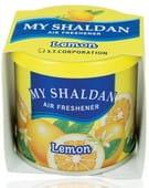 "ST ""My Shaldan"" Желеобразный ароматизатор для помещений, на основе лимонена, аромат лимона, 80 гр."