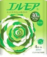 "Kami Shodji ""Ellemoi"" Ароматизированная туалетная бумага 2 х-слойная, 4 рулона по 30 метров."