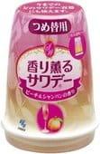 KOBAYASHI Освежитель воздуха для туалета «Kaori Kaoru – аромат персика в шампанском», сменный блок, 140 гр.