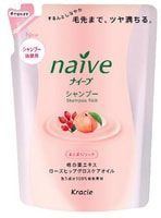 """KRACIE """"Naive - Экстракт персика"""" Шампунь для сухих волос, сменная упаковка, 400 мл."""