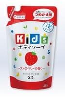 SK Kids Детское пенное мыло для тела с ароматом клубники, 250 мл., мягкая экономичная упаковка.