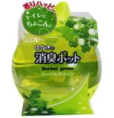 "ST ""Shoushuu Pot"" Дезодорант – ароматизатор ""Травяная зелень"" на основе желе для туалета с ароматом свежих зелёных трав, 270 гр."