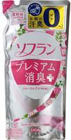 """LION Кондиционер для белья """"SOFLAN"""" с нежным аромат букета роз, малины и фруктов, 480 мл, сменный блок."""