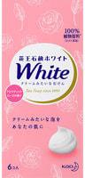 "KAO Мыло кусковое ""White"" с ароматом розы, 6 шт. по 85 гр."