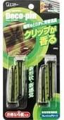 """ST """"DECO-PIN"""" Автомобильный дезодорант-ароматизатор для кондиционера с ароматом освежающей зелени, 2х2 шт."""