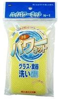 Ohe Corporation «Hi Power Sponge» / Губка для мытья посуды с жесткой сеточкой.