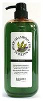 """Junlove """"Natural Herb Shampoo"""" / Шампунь на основе натуральных растительных компонентов (с экстрактом бурых водорослей, для сильно поврежденных волос), 1 литр."""