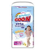 "Daio paper Japan Трусики ""Goon"", XL - 12-20 кг., для девочек, 40 шт."