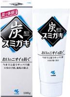 KOBAYASHI Паста зубная отбеливающая и полирующая, с углем и мятными травами, 100 гр.
