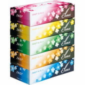 """Kami Shodji """"Ellemoi Elegance"""" Бумажные двухслойные гигиенические салфетки, 5 пачек по 200 шт."""
