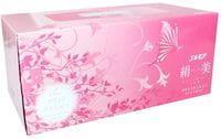 """Kami Shodji """"Kinubi"""" Салфетки двухслойные цвета шампанского с рисунком, 200 шт, 1 пачка, розовая."""