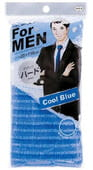 Ohe Corporation Мочалка массажная жесткая для мужчин, голубая, 28 см.на 120 см.