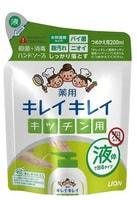 """Lion """"KireiKirei"""" Кухонное мыло для рук с антибактериальным эффектом и маслом апельсина, сменная упаковка, 200 мл."""