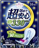 """Daio Paper Japan Ночные женские гигиенические прокладки """"Elis Night Normal"""", без крылышек, 33 см, 16 шт."""