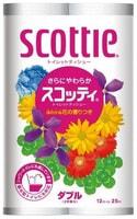 "Nippon Paper Crecia Co., Ltd. Туалетная бумага ""Scottie FlowerPACK"", двухслойная, 12 рулонов по 25 метров."