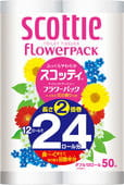 "Nippon Paper Crecia Co., Ltd. Туалетная бумага ""Scottie FlowerPACK 2"", двухслойная, 12 рулонов по 50 метров."