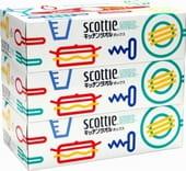 Nippon Paper Crecia Co., Ltd. Бумажные кухонные полотенца в коробке «Scottie», двухслойные, 3 коробки по 75 шт.
