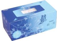 """Kami Shodji """"Kinubi"""" Салфетки двухслойные цвета шампанского с рисунком, 200 шт, 1 пачка, голубая."""