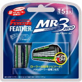 Feather Запасные кассеты с тройным лезвием для станка F-System «MR3 Neo», 5 шт.