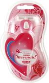 Feather «Mermaid Rose Pink - Русалочка» Женский набор для бритья: станок с тройным лезвием и 2 сменные кассеты.