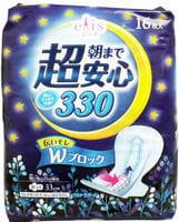 Daio paper Japan Женские ночные гигиенические прокладки «Elis Night Normal», 16 шт.