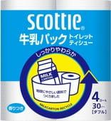 Nippon Paper Crecia Co., Ltd. Туалетная бумага из переработанной целлюлозы, с легким ароматом «Scottie», двухслойная, 4х30 м.