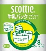 Nippon Paper Crecia Co., Ltd. Туалетная бумага из переработанной целлюлозы, с легким ароматом «Scottie», двухслойная, 8х45 м.