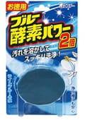 """ST Серия """"Blue Enzyme Power"""" - Очищающая и отбеливающая таблетка для бачка унитаза с ферментами окрашивающими воду в светло голубой цвет, 120 гр., аромат леса."""