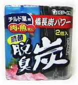 """ST """"Dashshuutan"""" Желеобразный дезодорант с древесным углем """"Бинчотан"""" и лимонной кислотой для холодильника (охлаждающая камера), 55 гр. х 2."""