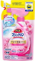 KAO «Magiclean Bath» - Очищающая спрей-пенка для ванной комнаты с ароматом розы, сменный блок, 330 мл.